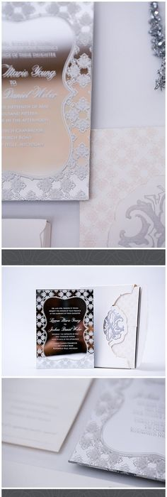 Reverence Collection   Wedding Invitation   Silver Foil   Acrylic - wedding invitation design surabaya