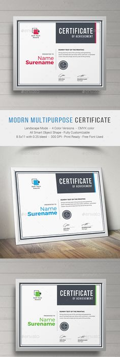 Modern Dynamic diploma award Certificate Certificate, Modern and