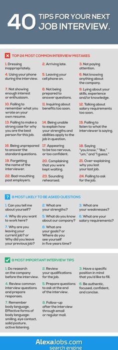 infographic 40 tips for your next job interview