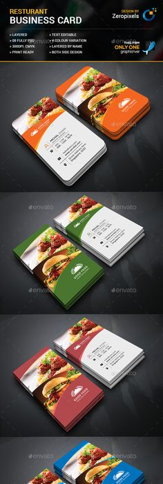 Restaurant business card card templates business cards and template restaurant business card flashek Image collections