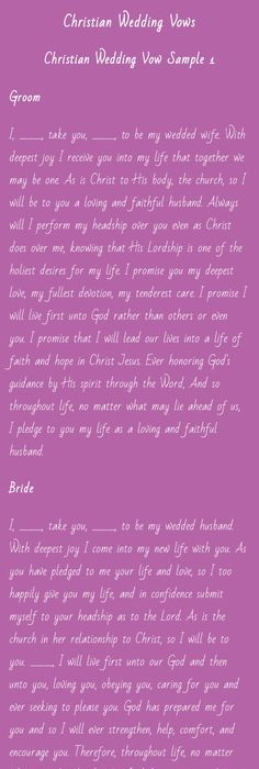 How To Write Your Christian Wedding Vows There Are Many Things