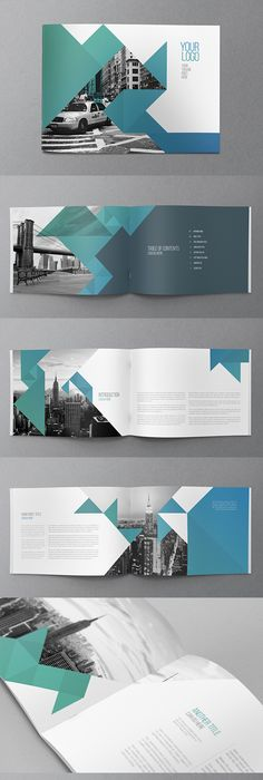 Abstract Brochure  Catalog Indesign Template Booklet