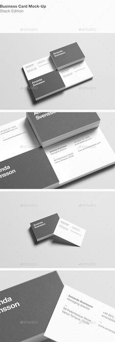 Business card any shape mockups vol1 mockup business cards and business card stack mock up reheart Images