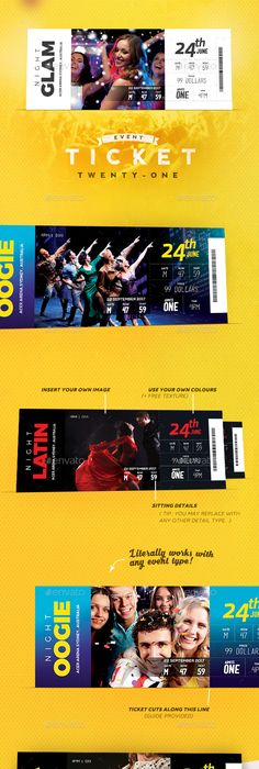 Multipurpose Event Ticket  Ticket Template Event Ticket And Template