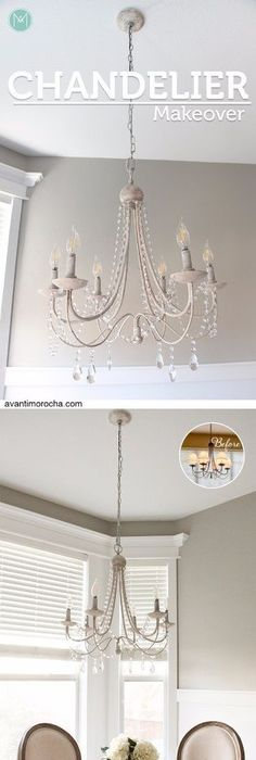 Brassy to classy my free chandelier brass chandelier diy crystal distressed chandelier mozeypictures Choice Image