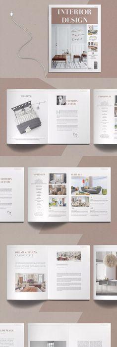 Magazine Template InDesign INDD | Magazine Templates | Pinterest ...