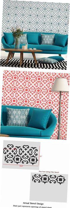 Stencils 41214: Square Plus Allover - Small - Reusable Stencils For ...