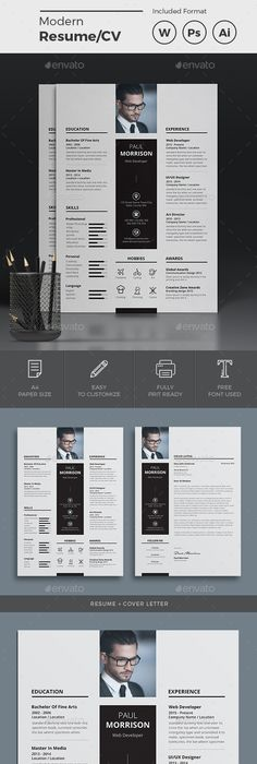 Resume on Behance | Resume styles, Cv resume template and Design resume