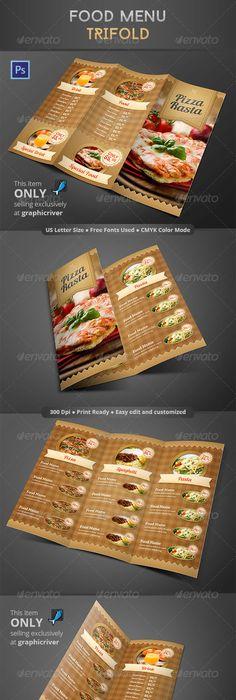 Restaurant Cafe Menu Template Design Food Flyer  Mustasch
