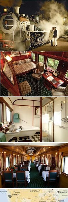 The Pride of Africa is a luxury train which is run by Rovos Rail. It