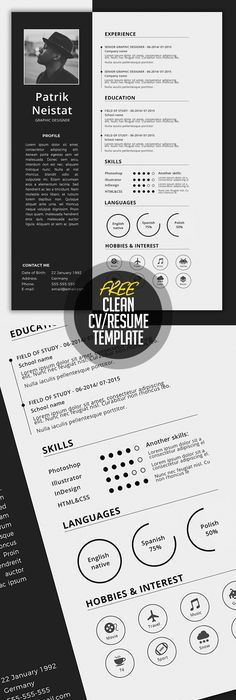 100 unique examples of architecture resume design template simple cvresume template free download more yelopaper Images