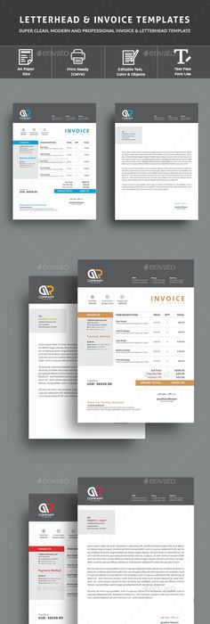 Invoice Excel Template Brand Identity And Ai Illustrator
