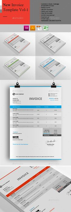 Pro Invoice Template Series - 01 Template, Proposal templates and