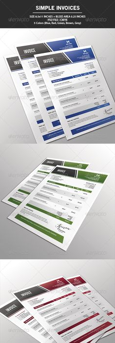 Invoices by Paulnomade - PSD, Indd, XLS, DOC, HTML, ODT, ODS, PDF