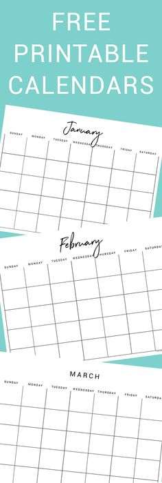 Free Printable Page Monthly Calendar  Spring Flowers  Free
