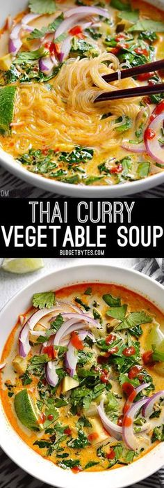 Indian fried cabbage recipe cabbage food and recipes thai curry vegetable soup is packed with vegetables spicy thai flavor and creamy coconut forumfinder Choice Image