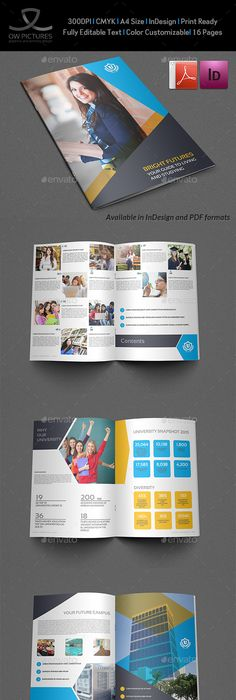 University Students Brochure Template  Design ID 0000002430