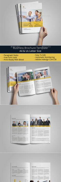 8 Pages Indesign Brochure Template Indesign Brochure Templates