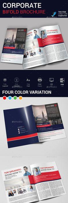 A5 Bi Fold Brochure Brochures Brochure Template And Template