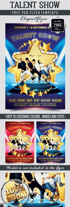 Talent Show  Free Poster Templates    Free Poster