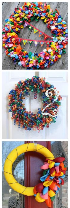 9 Birthday Wreaths That Are Just Too Cute Homemade birthday
