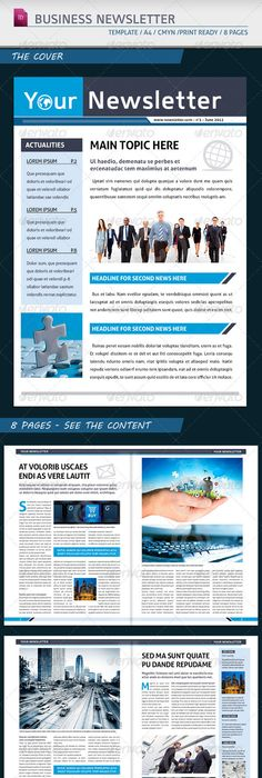 Investment Securities Company Newsletter Template - Word  Publisher