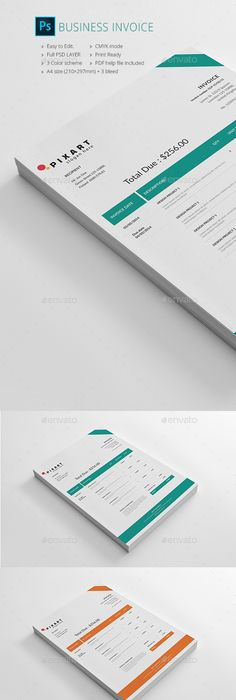 Invoice  Template Graphics And Business Proposal