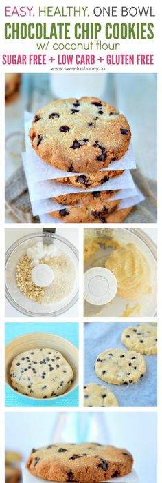 Yes you can have diabetes and eat desserts indulge with those delicious sugar free chocolate chip cookies with coconut flour and stevia healthy gluten free easy food processor recipe perfect for diabetic forumfinder Images