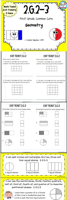 Fractions Worksheet - Halves, Thirds, Fourths | Fraction ...