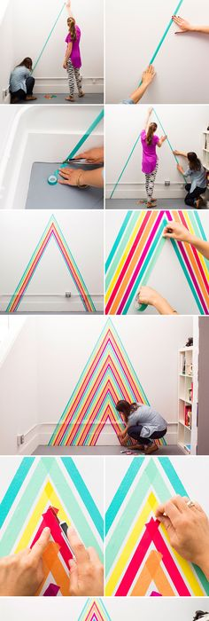 10 diy wall decorations with washi tape