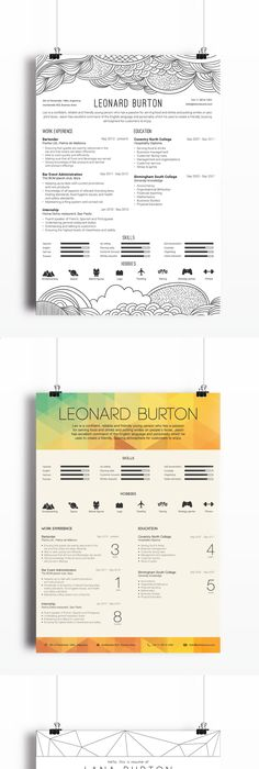 Best Creative Resumes Alluring Free Cv Template  Resumes & Cover Letters  Pinterest  Cv Template .