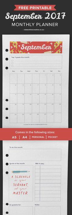 Free Printable  A Planner Insert  Flexible Layout Horizontal