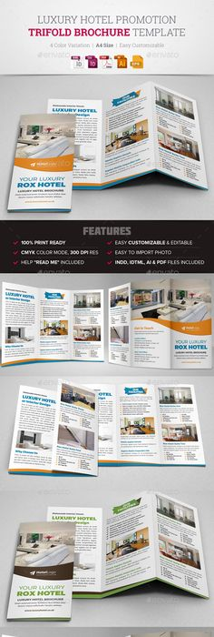 Taxi Service TriFold Brochure Template  Brochure Template