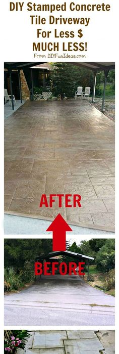 How to repair and reseal a driveway driveways curb appeal and yards diy stamped concrete tile driveway for less ch less solutioingenieria Choice Image