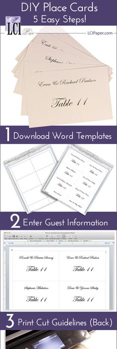 Free Avery Templates Place Cards Per Sheet Wedding - Place card template 6 per sheet