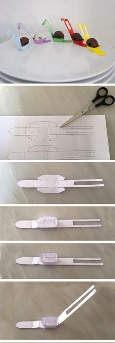 Instruccion Filipinos Kekse Galletas Schnecke Snail Caracol Paper Papel  Papier Deko Deco Tisch Table Mesa