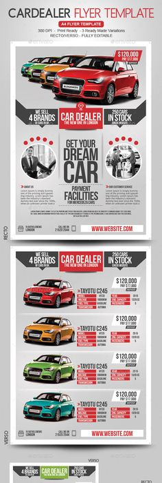 Car Sale Show Flyer Flyer template, Template and Brochures