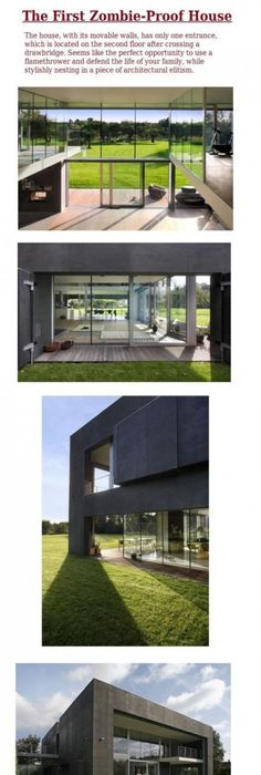 The only house totally ready for the Zombie Apocalypse! | Best Pins Zombie Proof House Design Pr on underground concrete house design, minecraft hut design, home design, best underground bunker design, modern bunker design, zombie protection house, zombie cakes design, zombie apocalypse house, guard house design, minimal house design, earthquake proof house design, coach house design, oban & 2 by agushi workroom design, earthquake resistant building design, fortified house design, hurricane proof house design, defensive house design, native house design,