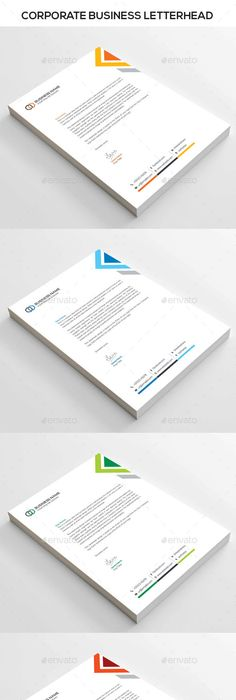 Company Letterhead Business Corporate Letter Head Format