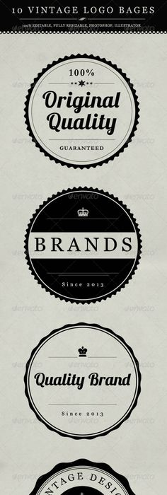 Vintage logo templates Vol 2   Logo templates, Graphics and Template