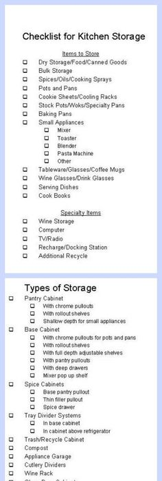 Remodel Planning Checklist  Checklist To Go Through When Planning