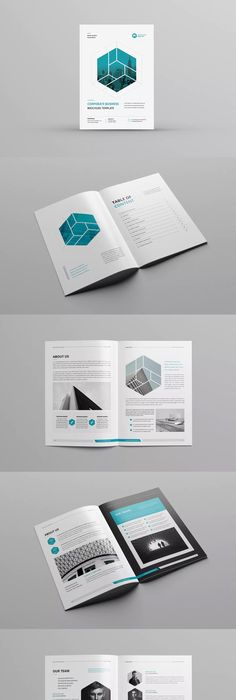 Company Profile Brochure Template InDesign INDD. Download here ...