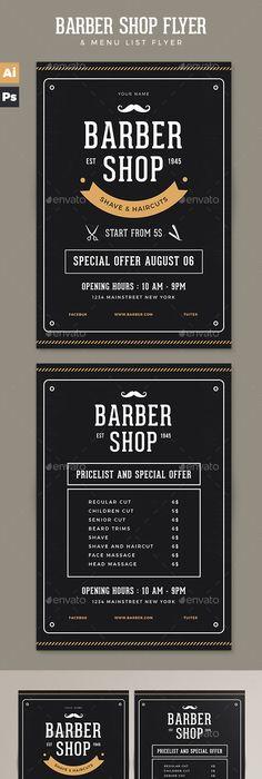"""Barber Shop Vintage Flyer/Poster"""" – This flyer/poster was designed ..."""