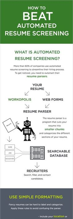 Resume Screening Software 17 Resume Tips That Will Attract Employers In 2017 Infographic .