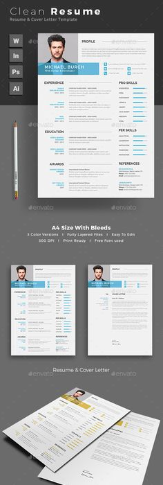 Mono Resume Template By WwwIkonoMe  Page Templates  Icons