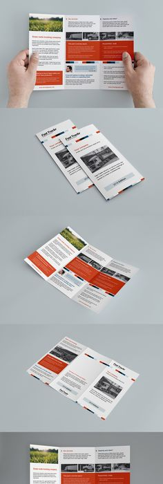 Free Business Trifold Brochure Template For Photoshop Illustrator