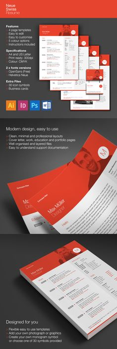 Make a resume resume templates pinterest buy neue swiss resume cv by ikonome on graphicriver neue swiss resume neue swiss resume is the clean modern and professional looking resume template which yelopaper Gallery