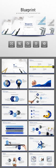 Company profile template PowerPoint The template is available in 4 - best of blueprint background slideshow