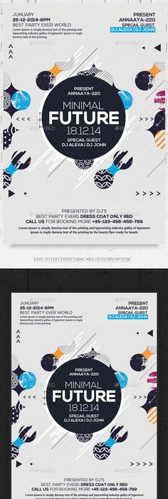 Colorful Flyers Bundle Vol   Print Templates Flyer Template