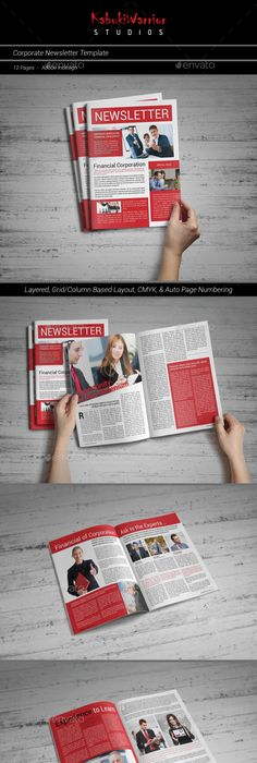 Page Business And Corporate Newsletter No  Newsletter Templates